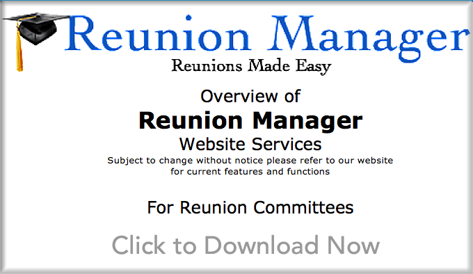 Reunion Committee Reunion Planning  Overview