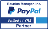 Reunion Manager a Verified PayPal Partner for over 14 years