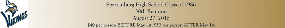 SPARTANBURG SR HIGH Reunion