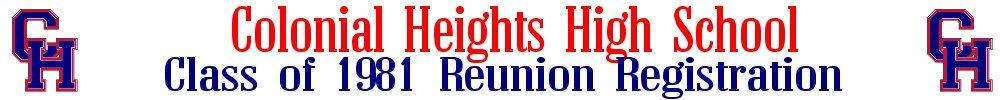 COLONIAL HEIGHTS HIGH Reunion